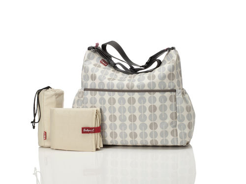 "BABYMEL Wickeltasche ""BIG SLOUCHY"" Multi Dot Grey"
