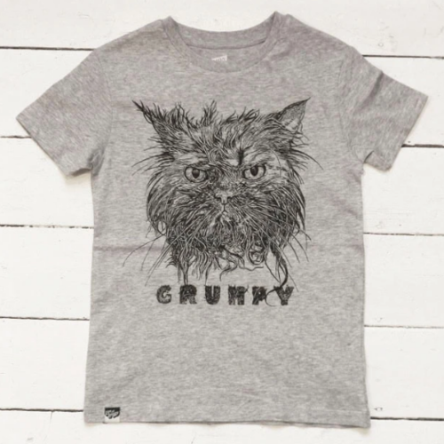 T-Shirt GRUMPY CAT grau von Lion of Leisure