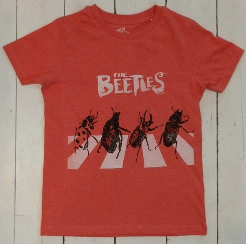 T-Shirt BEETLES rot melange von Lion of Leisure